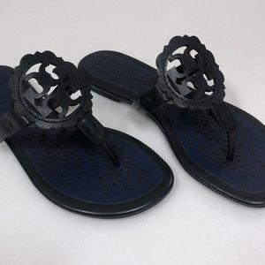 Tory Burch Miller Scallop Sandal in Navy/Black